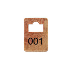 Wooden Cloakroom Tokens - Numbering only