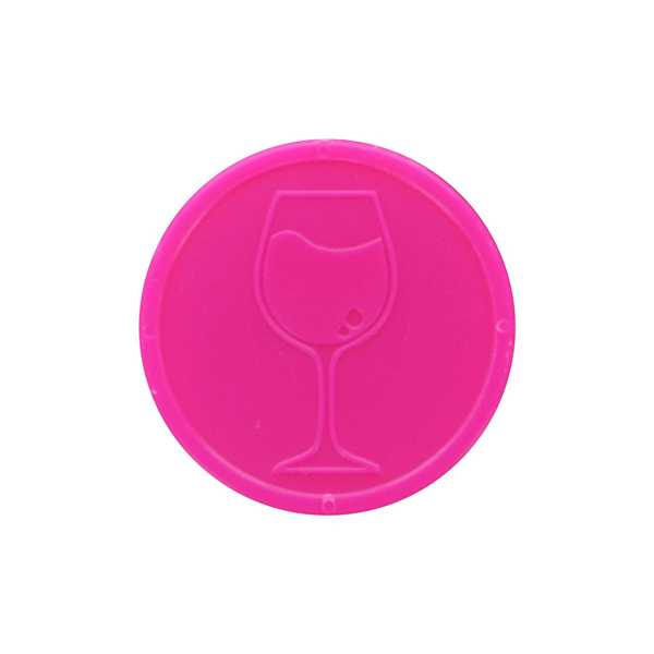 Embossed Tokens In Stock ø 29mm - Pink - Wine glass